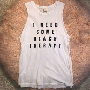 """Hyssop """"I need some beach therapy"""" Muscle Tee S"""